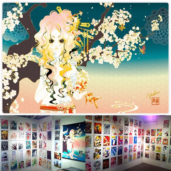 ストリートファッション イラストレーター 彩 | 桜 Exhibition 2011 六本木巡回展 クロージングパーティー