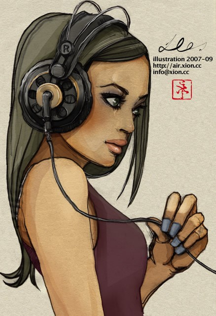 ストリートファッション イラストレーター 彩 | illustration 2007-09