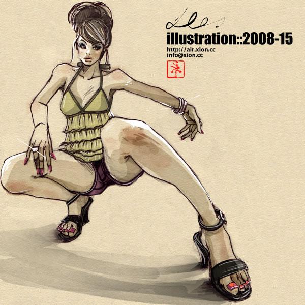 ストリートファッション イラストレーター 彩 | illustration 2008-15