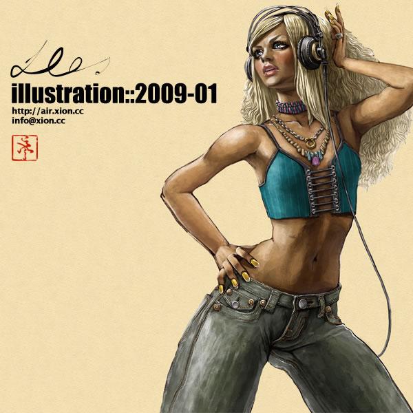 ストリートファッション イラストレーター 彩 | illustration 2009-01