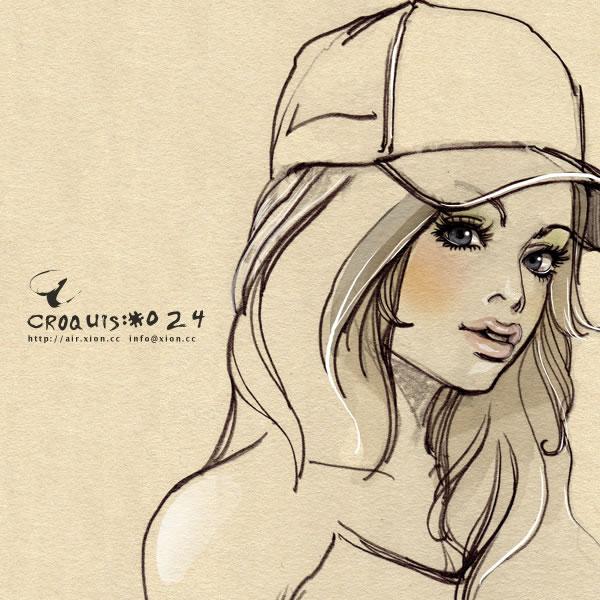 ストリートファッション イラストレーター 彩 | croquis:#024