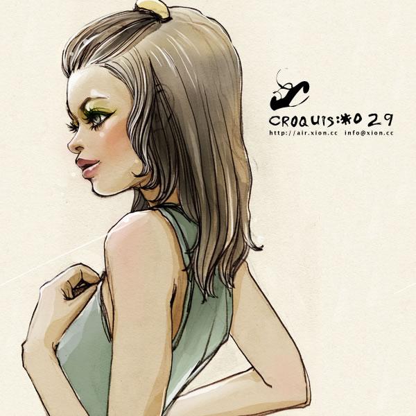 ストリートファッション イラストレーター 彩 | croquis:#029