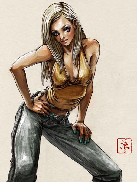 ストリートファッション イラストレーター 彩 | illustration 2009-04